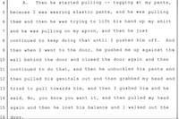 """<p><span style=""""line-height: 1.364;"""">Excerpt from B.C.'s deposition to Steak 'n Shake attorney Christopher Kurzner, dated Jan. 17, 2013.</span></p>"""