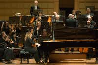 Pianist Ingrid Fliter (CQ) performs with the Dallas Symphony at the Meyerson Symphony Center in Dallas, Texas, Thursday, November 3, 2016. (Allison Slomowitz/ Special Contributor)