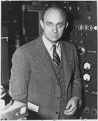 Physicist Enrico Fermi in a photograph probably taken between 1943 and 1946.(Department of Energy)