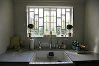 Leaded glass in the kitchen window(Staff Photographer)