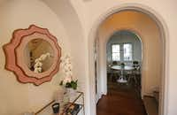 Archways fill the home at  6935 Lakeshore in Dallas.(Louis DeLuca/Staff Photographer)