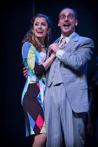 Samantha McHenry plays beauty contestant Diana Devereaux and Andy Baldwin plays vice presiddent Alexander Throttlebottom in 'Of Thee I Sing,' presented in concert by Lyric Stage at Irving Arts Center in Irving Nov. 3-6, 2016.(James Jamison)