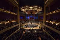 For $1 a year, the Dallas Symphony Orchestra has use of the Morton H. Meyerson Symphony Center in Dallas, where President Barack Obama joined other dignitaries in July for an interfaith memorial service for five law enforcement officers killed in an ambush at a Black Lives Matter rally. (Smiley N. Pool/The Dallas Morning News)