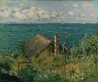 Monet's <i>A Hut at Sainte Adresse</i> from 1867.  (Kimbell Art Museum)