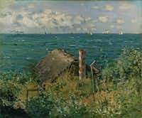 Monet's <i>A Hut at Sainte Adresse</i> from 1867. &nbsp;(Kimbell Art Museum)