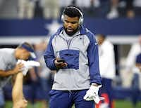 Dallas Cowboys running back Ezekiel Elliott. (Tom Fox/Staff Photographer)