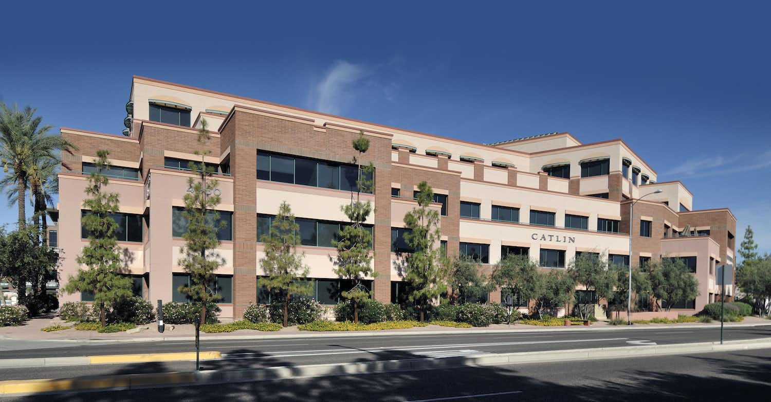 Transwestern Investment Group's new real estate fund is buying office properties, including this building in Scottsdale.TIG