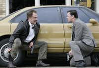 Bradley Whitford (left) and Colin Hanks were <i>The Good Guys</i> in the short-lived FOX series shot in Dallas. (File Photo)
