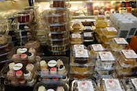 Check out the top of the Royal Blue Grocery cheese counter, where many individual cakes are stacked, including Trailercakes, Cake Bar and Ain't No Mo! Butter Cakes.(Kim Pierce)