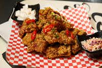 Rice Fried Chicken tossed in special soy sauce served at Rice Chicken in Dallas.(Nathan Hunsinger/Staff Photographer)