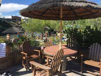 The Pagosa Springs pools are surrounded by inviting decks.(Sophia Dembling)