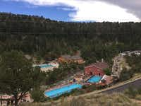 Mount Princeton Hot Springs Resort is a sprawling complex in a gorgeous location.(Sophia Dembling)
