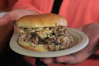 The chopped barbecue sandwich from Lexington Barbecue.(Jason Frye)
