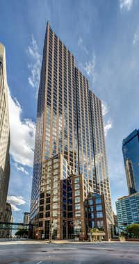 Akin Gump now has about 90 attorneys working in the 49-story 1700 Pacific tower downtown.(DMN files)