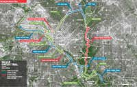 The planned Loop connector would create a 50-mile trail around central Dallas.