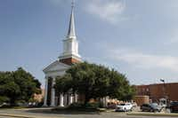 Wilshire Baptist Church in Dallas.<br>(Jim Tuttle/Staff Photographer)