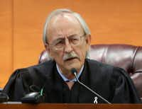 Judge Ken Molberg speaks during a court hearing at the George L. Allen, Sr. Courts Building in Dallas on Monday, Oct. 24, 2016. (Rose Baca/The Dallas Morning News)(Staff Photographer)