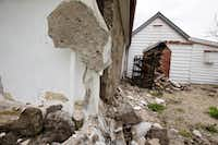 The walls of a historic church are damaged in Waiau after a earthquake in Waiau, New Zealand Monday, Nov. 14, 2016. A powerful earthquake that rocked New Zealand on Monday triggered landslides and a small tsunami, cracked apart roads and homes and left two people dead, but largely spared the country the devastation it saw five years ago when a deadly earthquake struck the same region. (Mike Scott/New Zealand Herald via AP)(AP)