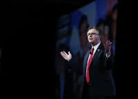 "Lt. Gov. Dan Patrick said he was thrilled at the prospect of fewer federal regulations from a Trump presidential administration. (<p><span style=""font-size: 1em; background-color: transparent;"">(Vernon Bryant/Staff Photographer)</span><br></p><p></p>)"