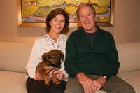 Former President George W. Bush and his wife, Laura, welcomed a new member to their family recently, rescue dog Freddy.