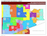 Students living in neighborhoods 59A and 59B east of Custer Road would move from Comstock Elementary to Isbell Elementary. Students living in neighborhoods 59D and 59E south of Stacy Road would move from Comstock Elementary to Elliott Elementary. Students living in neighborhood 19B west of Hillcrest Road would move from Gunstream Elementary to Christie Elementary.