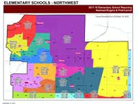 Students living in neighborhoods 10, 47A and 53 north of Eldorado Parkway would move from Newman Elementary to Rogers Elementary. Students living in neighborhood 45D south of Eldorado Parkway would move from Carroll Elementary to Pink Elementary. Students in neighborhoods 46A and 46B move from Carroll Elementary to Rogers Elementary.