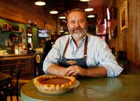Slow Bone owner and pitmaster Jeffery Hobbs'  favorite Thanksgiving recipe is his Great Grandma Jeffery's Pumpkin Pie, a four generation pie recipe. (Tom Fox/Staff Photographer)