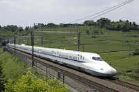 The high-speed train Texas Central proposes operating between Houston and Dallas would be similar to this N700 bullet train that runs from Tokyo to Osaka. Photos of the N700 used under permission of JR Central .(Texas Central)