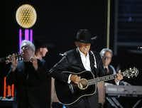 George Strait performs during the 2015 Academy of Country Music Awards on April 19, 2015, at AT&T Stadium. Andy Jacobsohn/Staff Photographer