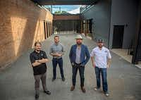 (From left) Andrew Popp, Alex Fletcher, Josh Uecker and Adam Kovac will all be leaders in the new Harlowe MXM development in Deep Ellum. The two restaurants will open some time in 2017. Photograph taken Friday, November 11, 2016 in Dallas. (G.J. McCarthy/The Dallas Morning News)(Staff Photographer)