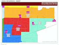 """<p><span style=""""font-size: 1em; background-color: transparent;"""">Incoming ninth-grade students in neighborhoods 16A, 59A, 59C, 59D, 59E and 59F -- essentially all areas south of Main Street/Stacy Road -- would shift from Independence High School to Liberty High School. Upperclassmen in those neighborhoods already attending Independence High this school year would remain there.</span></p>"""