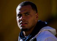 Dallas Cowboys quarterback Dak Prescott (4) warms up before their game against the Pittsburgh Steelers on Sunday, November 13, 2016. (Ashley Landis/The Dallas Morning News)(Staff Photographer)