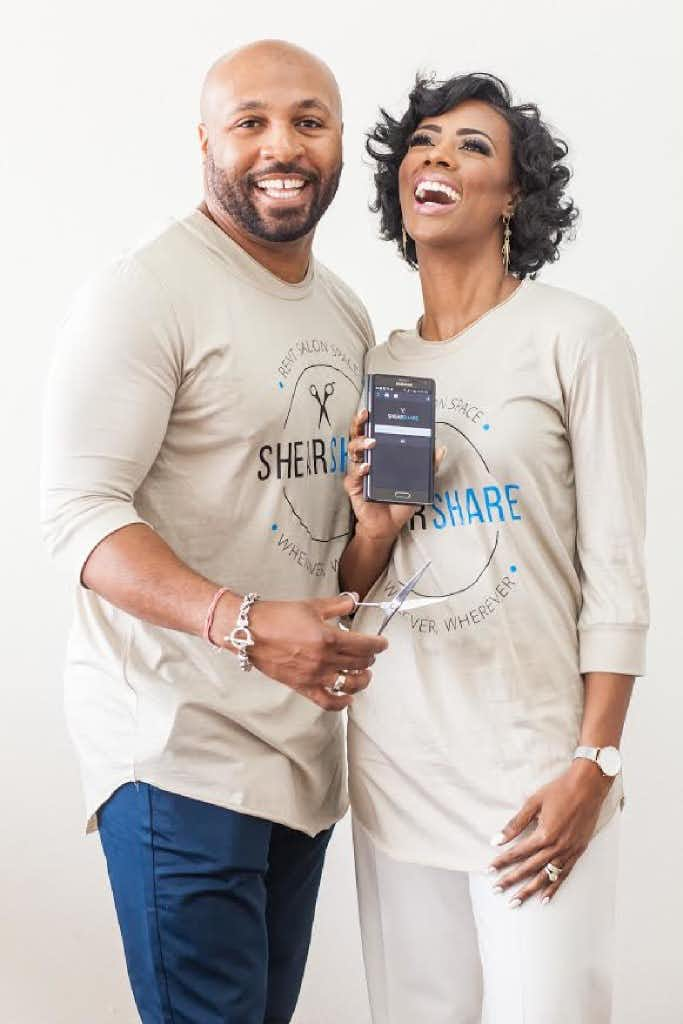 """Courtney and Tye Caldwell started ShearShare after Tye, a salon owner, got calls from barbers who wanted to rent space for a day or a week.<p><span style=""""font-size: 1em; background-color: transparent;"""">Courtesy of Allyson Rhodes of AIR Designs</span><br></p><p></p>"""