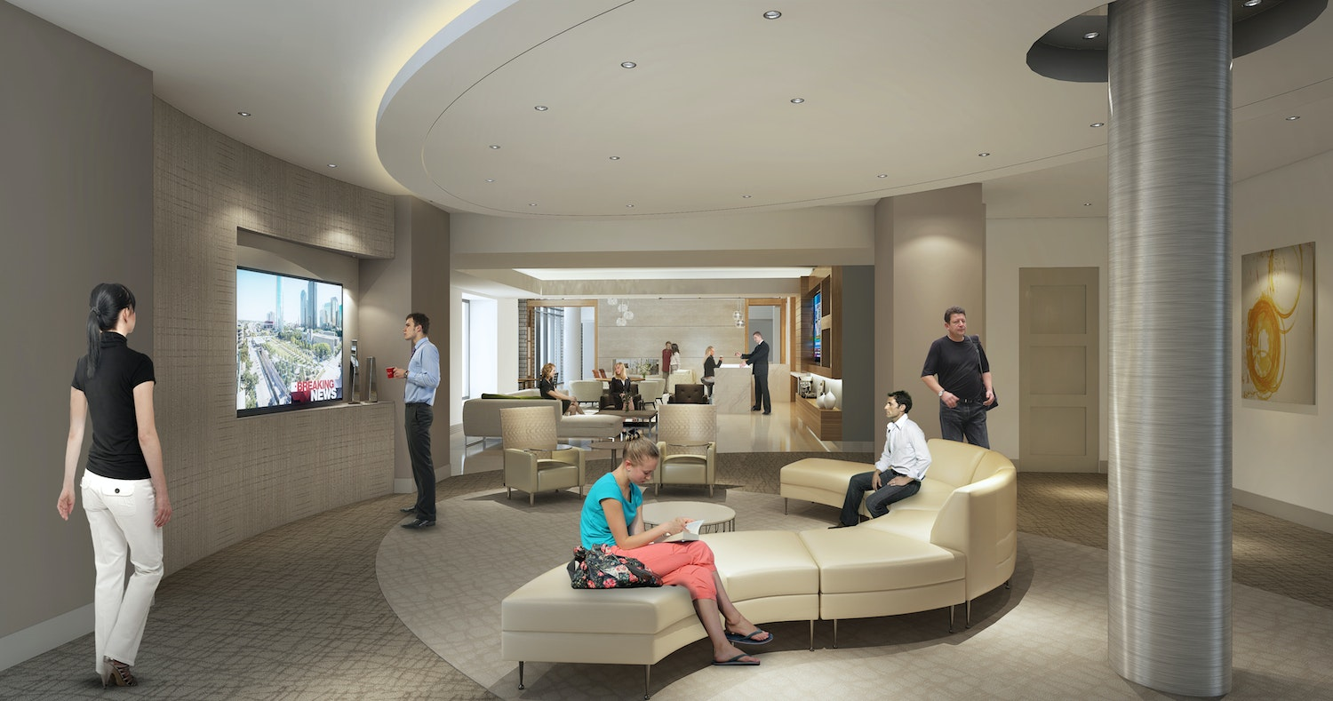 A Lounge In The Katy Apartments.