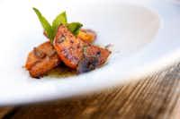 Chef Daniele Puleo prepared Zucca in Agrodolce at CiboDivino Restaurant & Marketplace on Sylvan Avenue(Tom Fox/Staff Photographer)