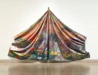 Sam Gilliam, <i>Leaf, 1970</i>, acrylic on canvas, Dallas Museum of Art, gift of Timothy C. Headington.(Dallas Museum of Art)