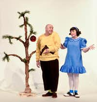 (from l-r) Christopher Curtis plays Charlie Brown and Brett Warner plays Lucy in Dallas Children's Theater's 'A Charlie Brown Christmas' Nov. 18-Dec. 21, 2016 at the Rosewood Center for Family Arts in Dallas.(Karen Almond)