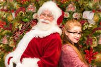 (from l-r) Greg Dulcie plays Santa and Josie Dawn plays Beatrice in 'Santa Claus -- A New Musical' Nov. 25-Dec. 23, 2016 at Casa Ma ana Theatre in Fort Worth.(Chip Tompkins)
