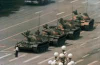 Man vs. tank at Tiananmen Square . (File Photo/The Associated Press)