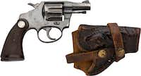Gerald Hill's police revolver((Courtesy Heritage Auctions))