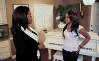 "In this undated image from video released by Harpo, Inc., host Oprah Winfrey, left, is shown with Bobbi Kristina, daughter of the late singer Whitney Houston during an interview in Atlanta, Ga. The exclusive interview will be shown on ""Oprah's Next Chapter,"" on the OWN network, Sunday, March 11, 2012 at 9:00 p.m. EST. (AP Photo/Harpo, Inc.)(AP)"