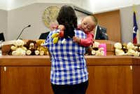 <p>Foster parent Sara Alicia Arevalo made Fernando her son for keeps on Nov. 19, National Adoption Day, in Dallas. (Ben Torres/Special Contributor)</p>