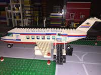 Air Force One, part of Eric Peschke's LEGO treatment of the Kennedy assassination.(Eric Peschke)