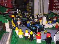Zapruder film, limo appears, part of Eric Peschke's LEGO treatment of the Kennedy assassination.(Eric Peschke)