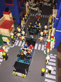 Motorcade, part of Eric Peschke's LEGO treatment of the Kennedy assassination.(Eric Peschke)
