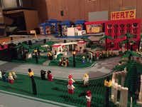 Elm and Houston, part of Eric Peschke's LEGO treatment of the Kennedy assassination.(Eric Peschke)
