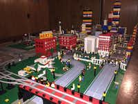 Dealey Plaza, part of Eric Peschke's LEGO treatment of the Kennedy assassination.(Eric Peschke)