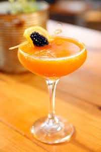 Daddy's Lil Pumpkin cocktail drink served at Mudhen Meat and Greens restaurant.(Tom Fox/Staff Photographer)