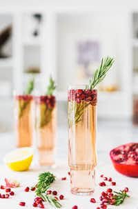 Pomegranate Rosemary Spritzer(A House in the Hills)