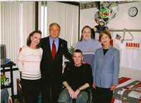 George W. and Laura Bush visited Owens and his mother and sister. ((Lezleigh Kleibrink))